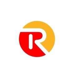 R logo Design vector image vector image