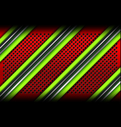 Red green metal lines backgrounds vector