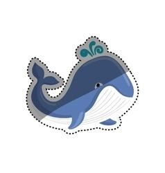 Sea whale cartoon vector