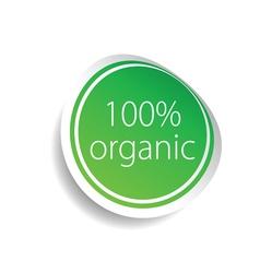 Sticker organic green art vector