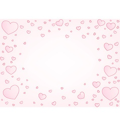 Valentine card hearts vector image
