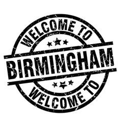 Welcome to birmingham black stamp vector