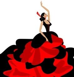 Woman and flamenco vector