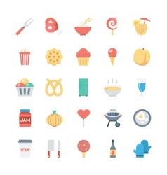 Food colored icons 7 vector