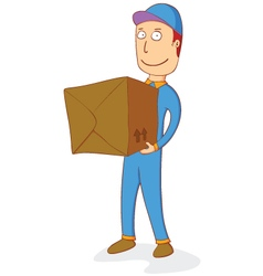 Delivering order box vector