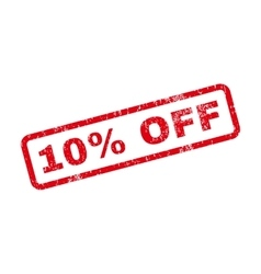 10 percent off text rubber stamp vector