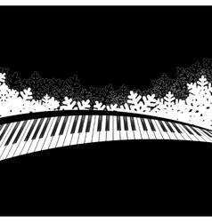 Piano template isolated vector