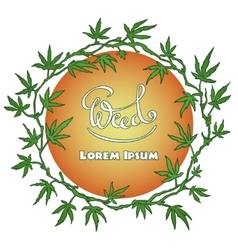Marijuana wreath vector