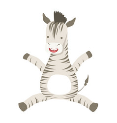 Zebra cute toy animal with detailed elements part vector