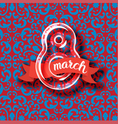 8 march womens day greeting card vector
