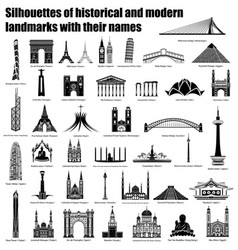 Architecture silhouettes vector