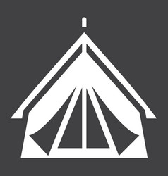 Tourist tent solid icon travel and tourism vector