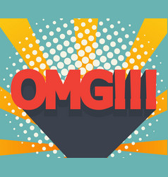 Abstract omg background comic book vector