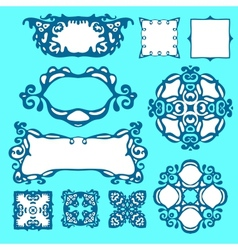 Set of design elemets and borders vector