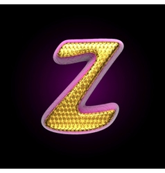 Golden and pink letter z vector