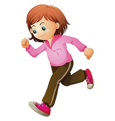 A young child jogging vector image