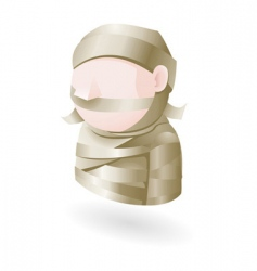 mummy illustration vector image