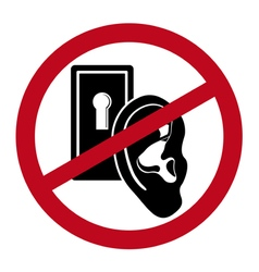 No overhearing icon vector