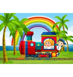 Train ride vector