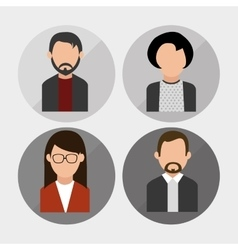 People profile design vector