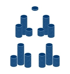 Coin stack money gold pile vector