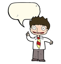 Cartoon man with idea with speech bubble vector