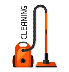 Housekeeping background with vacuum cleaner image vector