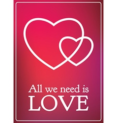 All lovers day valentine card romantic gradient vector