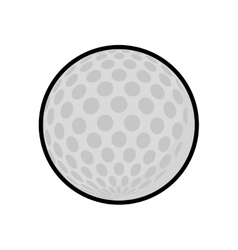 Golf ball icon sport concept graphic vector