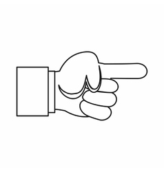 Pointing hand gesture icon outline style vector