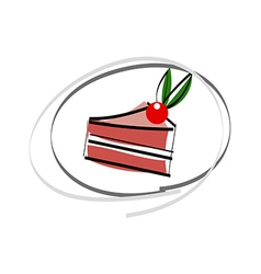 A piece of cake vector image vector image