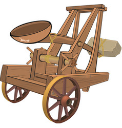 A video game objectcatapult vector image