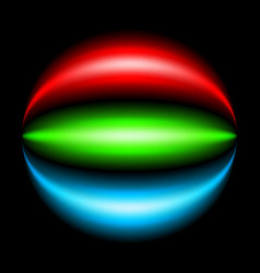 Abstract rainbow ray on black background vector