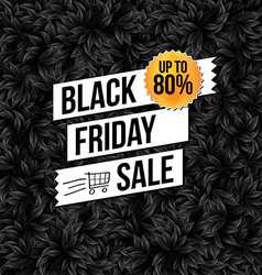 Black Friday sale business poster vector image