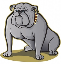 bulldog sitting vector image