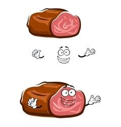 Cartoon isolated roast beef character vector