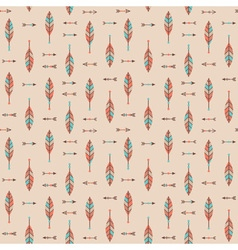 Cute geometric seamless pattern in cartoon style vector image vector image