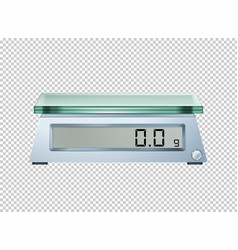 Digital scale on transparent background vector
