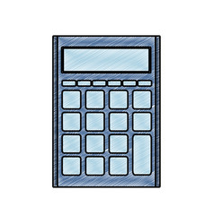 Grated finance calculator to business economy data vector