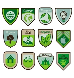 green labels and stickers vector image vector image