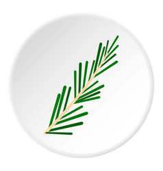 Green rosemary twig icon circle vector