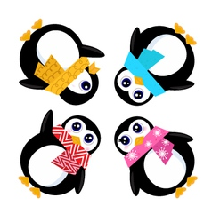 group of penguins vector image vector image