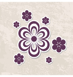 grungy floral card vector image vector image