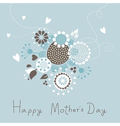 Happy Mothers Day With Bouquet vector image vector image