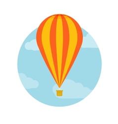 Hot air balloon flying vector