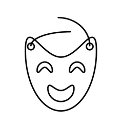 Mask theater graphic outline vector