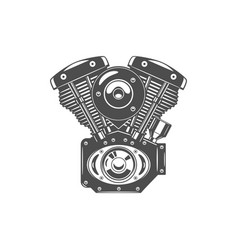 Monochrome of motorcycle engine vector