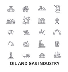 oil and gas industry rig platform exploration vector image