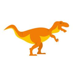 Orange tyrannosaur dinosaur icon isolated vector