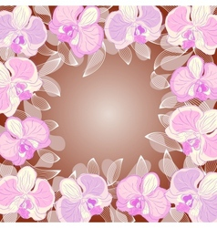 orchid frame vector image vector image